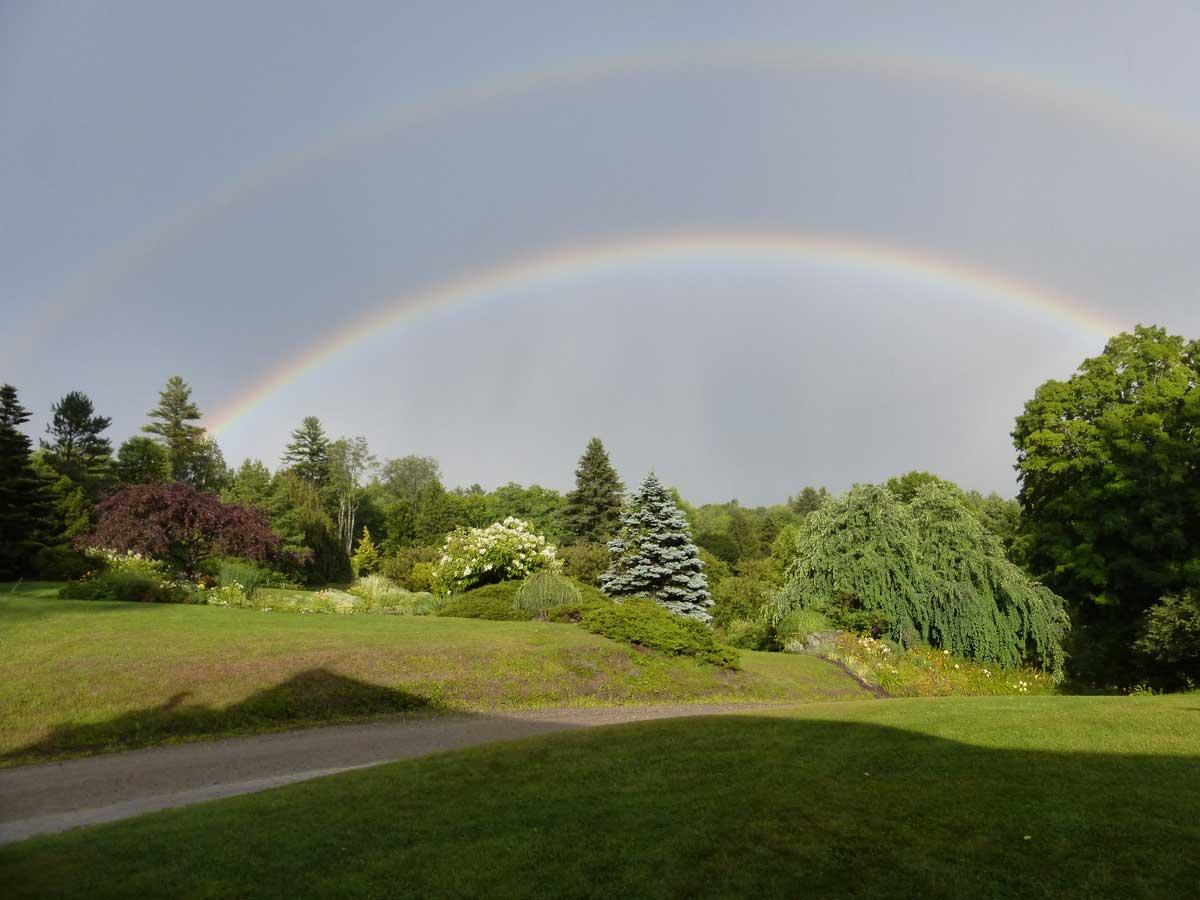 Rainbow vista looking east