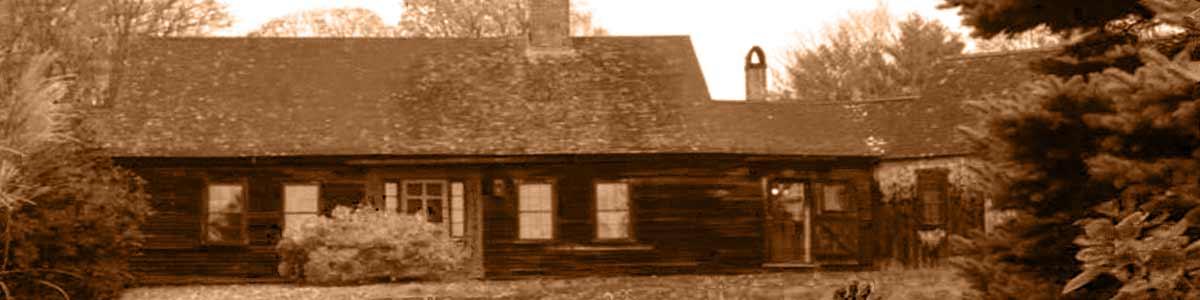East façade of house